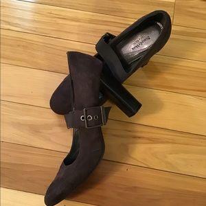 Simply Vera Wang Women heel shoes Brown suede  8 m